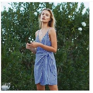 MALIA DRESS - BLUE GINGHAM